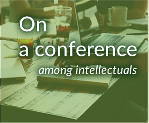 On a conference among intellectuals banner