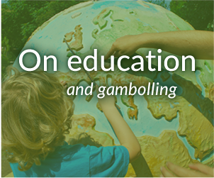 On education and gambolling banner